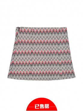 极简折线条纹包臀A字裙