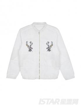 原创麋鹿系列棒球服夹克
