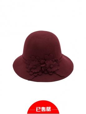 圆形气质花朵礼帽