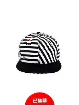 潮流条纹棒球帽