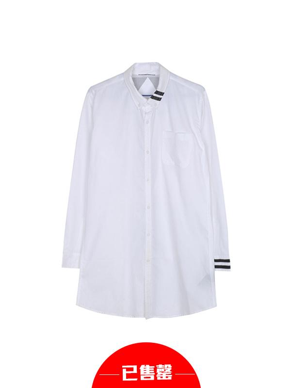 个性设计条纹装饰衬衫