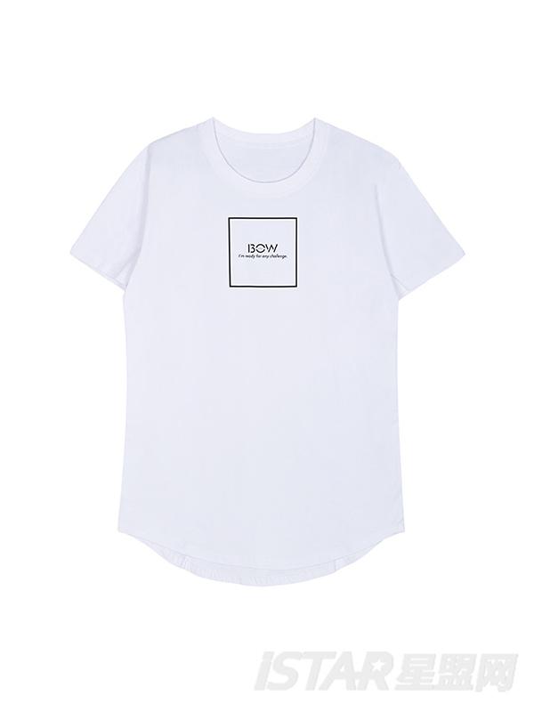 Free Bow 时尚简版字母通用纯棉T恤上衣款