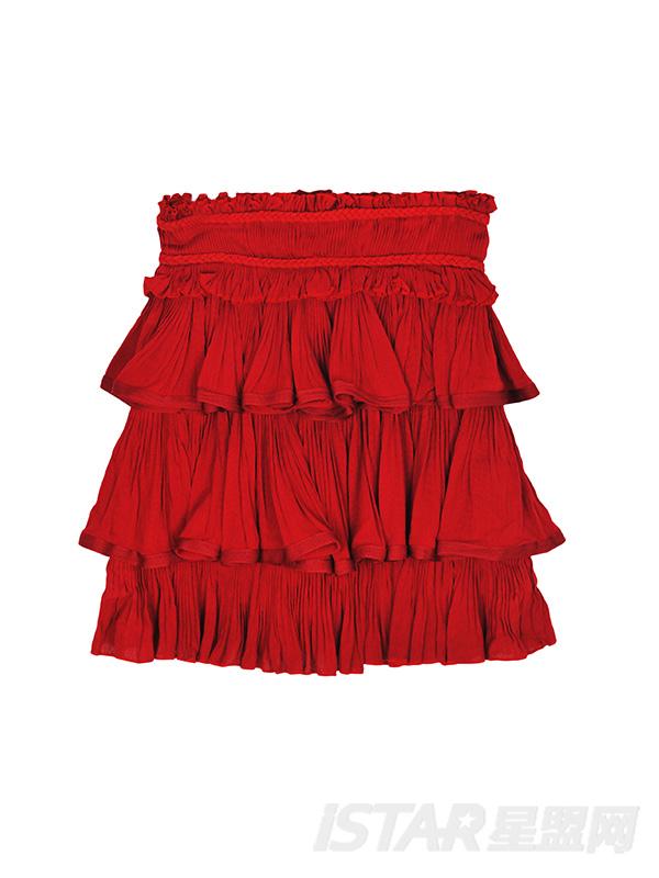 无袖雪纺精致蛋糕裙
