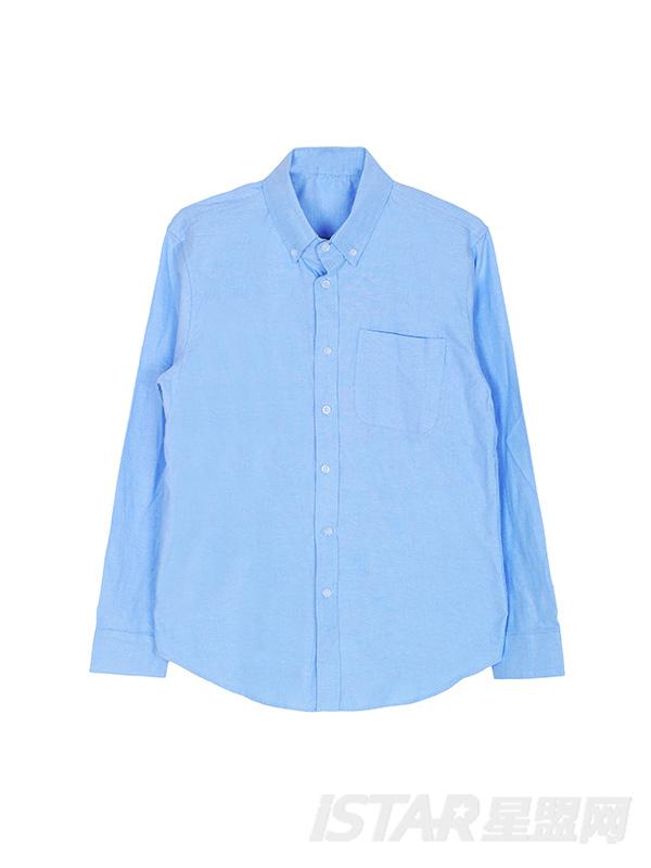 纯色休闲长袖男士衬衫