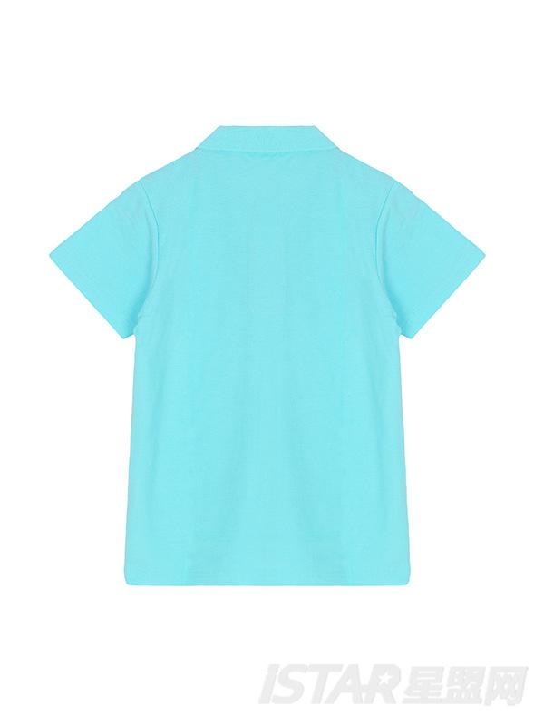 儿童纯棉翻领清新短袖T恤