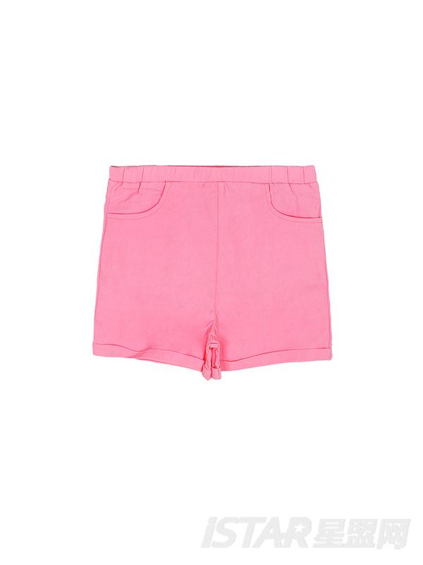 女童纯色舒适弹力休闲短裤