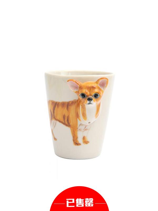 立体吉娃娃咖啡杯水杯马克杯