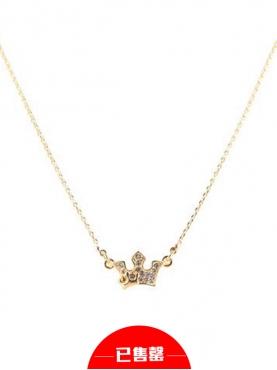 雅致金色公主风皇冠造型项链