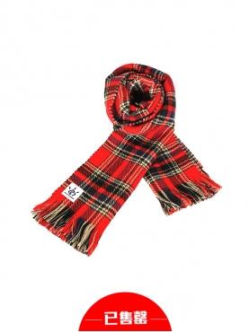 圣诞英伦格纹双面围巾
