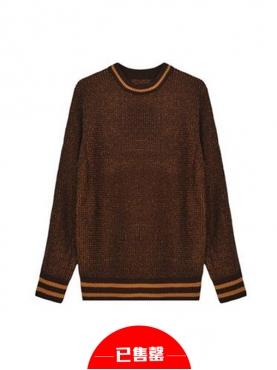 英伦时尚修身毛针织衫