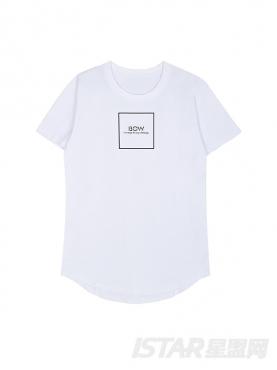 【票号款】Free Bow 时尚简版字母通用纯棉T恤上衣款