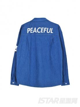 【票号款】Free Bow 英伦优雅条纹牛仔衬衣开衫