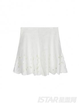 Mariri'z 经典白色时尚镂空花瓣伞裙