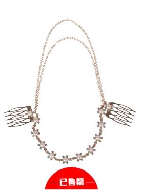 流苏链条珍珠发饰