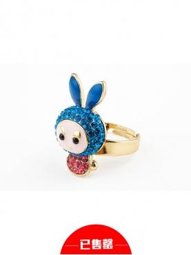 卡通镶钻兔子戒指