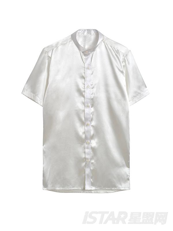 中山领衬衫