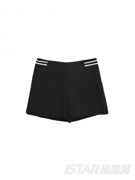 时尚黑学院风休闲短裤