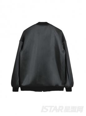 潮流开衫拼色夹克