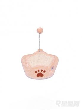 弹簧毛绒球猫爪造型猫爪板