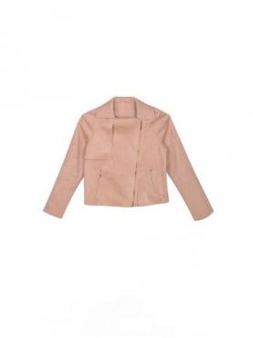 时尚鹿皮绒机车外套