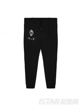 N-ation纯黑粉丝服运动休闲裤