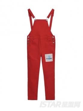 糖果色时尚休闲背带裤