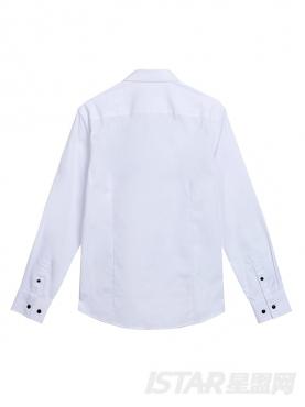 仙鹤图案优雅绅士衬衫