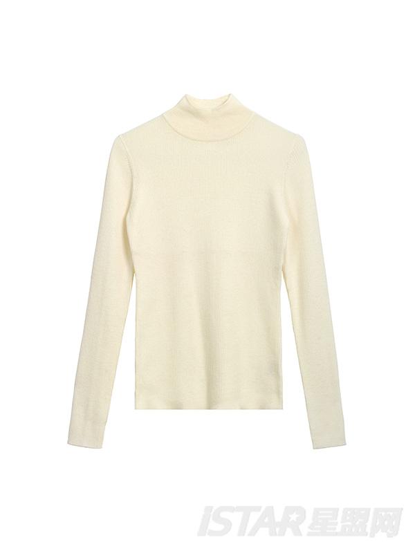 纯色立领百搭毛衣