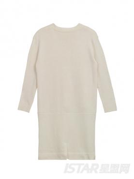 个性前短后长设计先锋开叉中长款毛衣