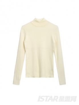 纯色立领百搭舒适休闲毛衣