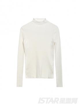 温暖高领舒适修身针织毛衣