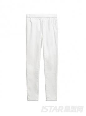 纯色加绒修身小脚休闲裤