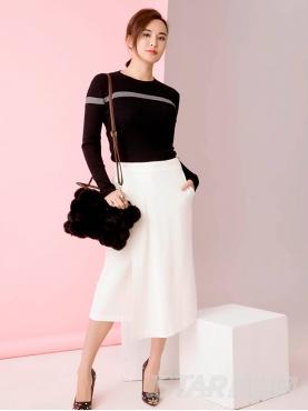 新款个性裙装搭片拼接裤裙