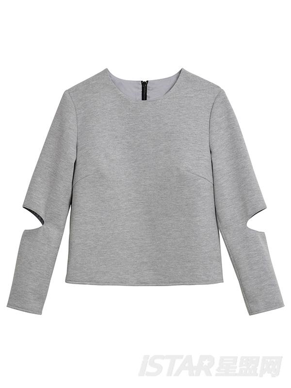 袖子镂空设计卫衣