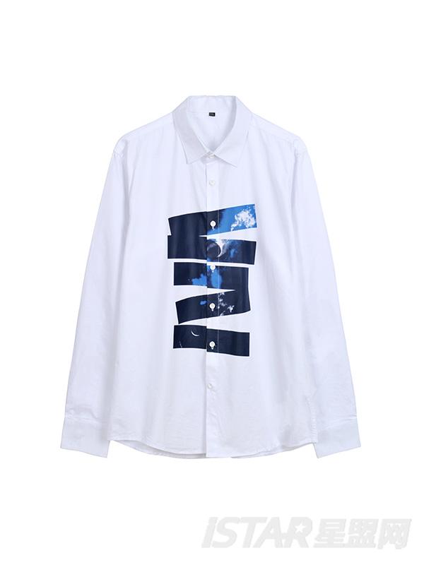抽象印花衬衫