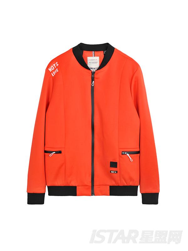明丽亮色运动夹克外套