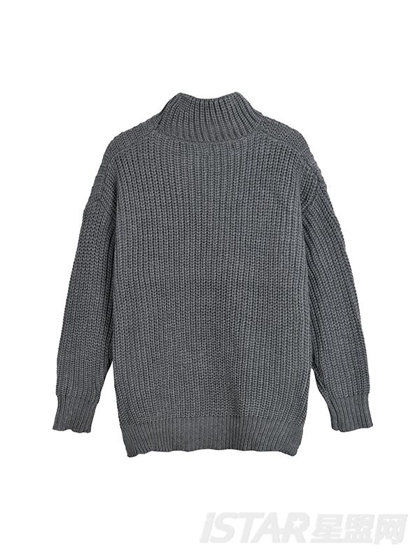 Dorayaki品牌保暖下摆开叉式毛衣(情侣款)