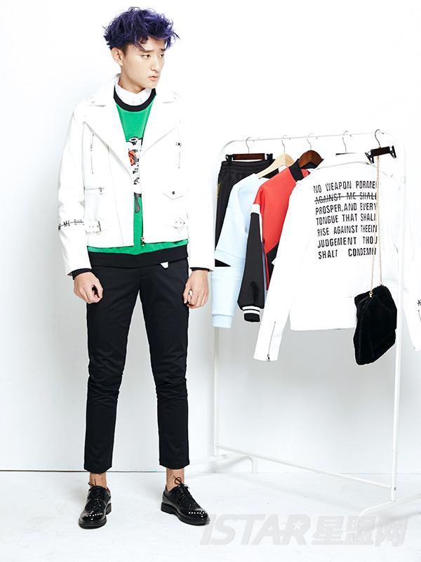 Dorayaki品牌酷感皮夹克(情侣款)