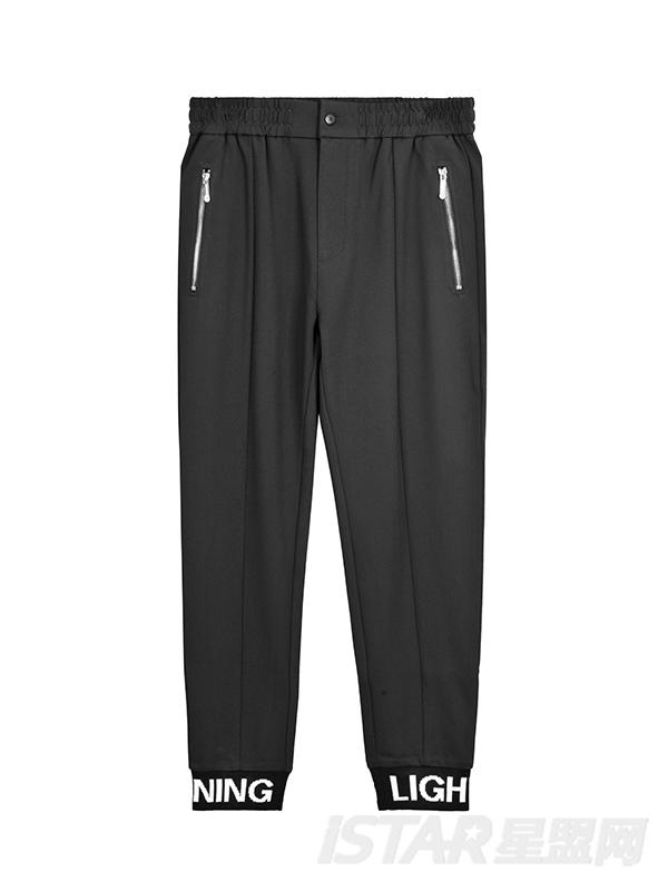 Dorayaki品牌字母装饰休闲休闲裤