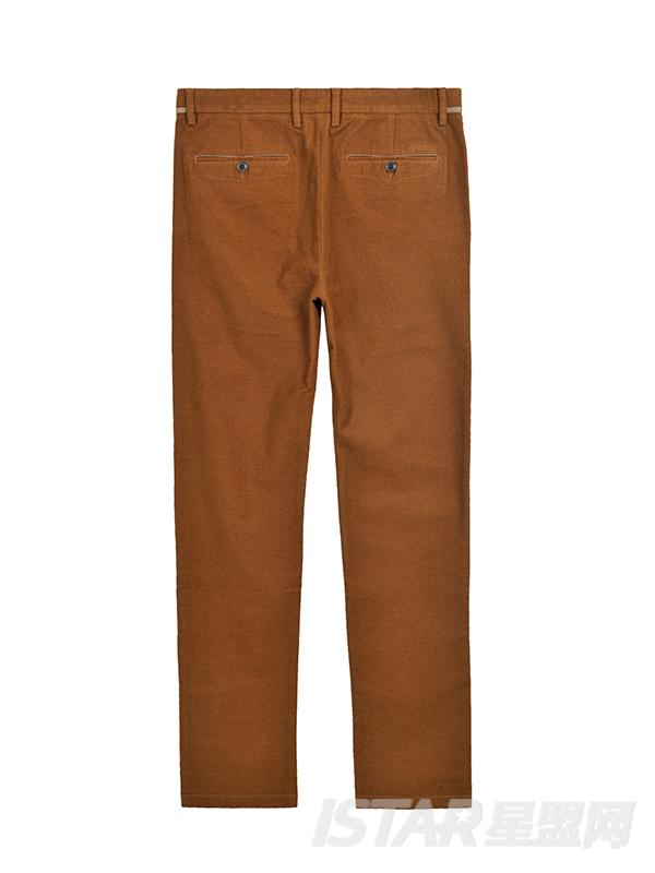 Dorayaki品牌棕色保暖修身休闲裤