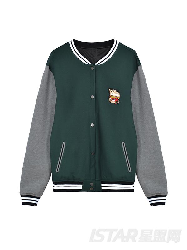 MR.HU品牌卡通拼色棒球服