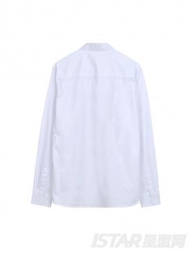 时尚抽象印花纯棉衬衫