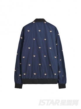 蜘蛛刺绣装饰夹克外套