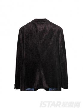 Dorayaki品牌商务休闲丝绒单扣西装