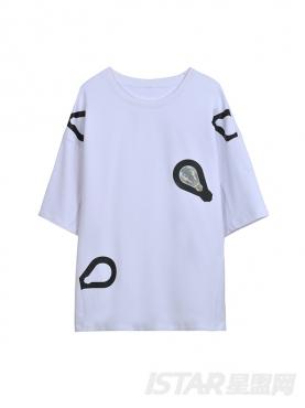 Dorayaki品牌舒适简约休闲百搭纯棉T恤