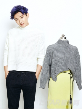 Dorayaki品牌保暖下摆开叉式毛衣(男-情侣款)