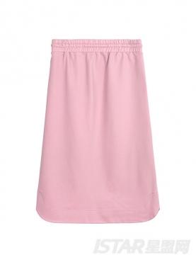 甜美粉时尚印花半身裙套装