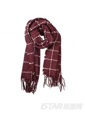 文艺控格纹装饰时尚舒适围巾