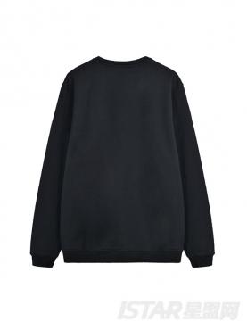 潮流拉链装饰字母胸贴设计纯棉卫衣