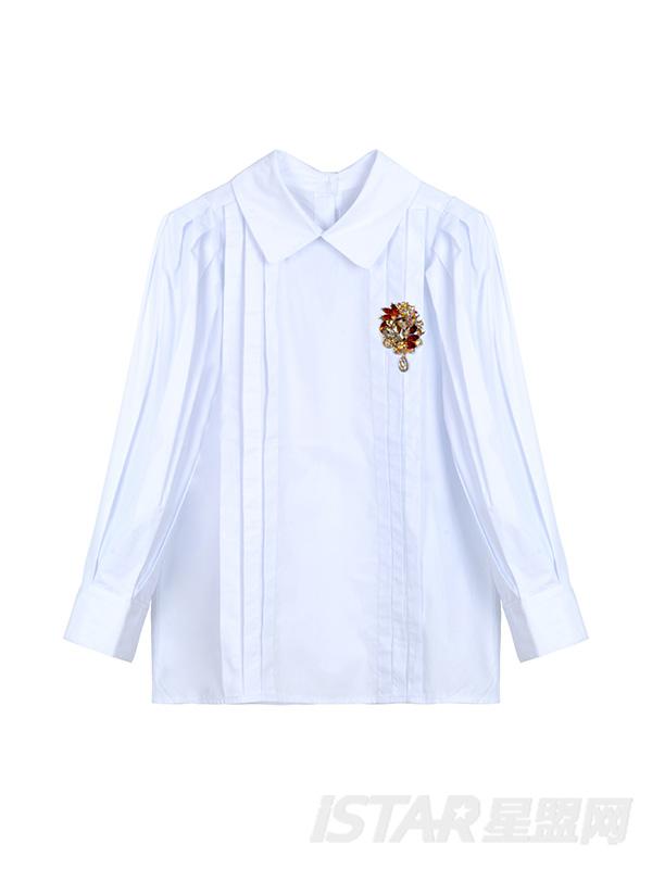 泡泡袖宫廷衬衫